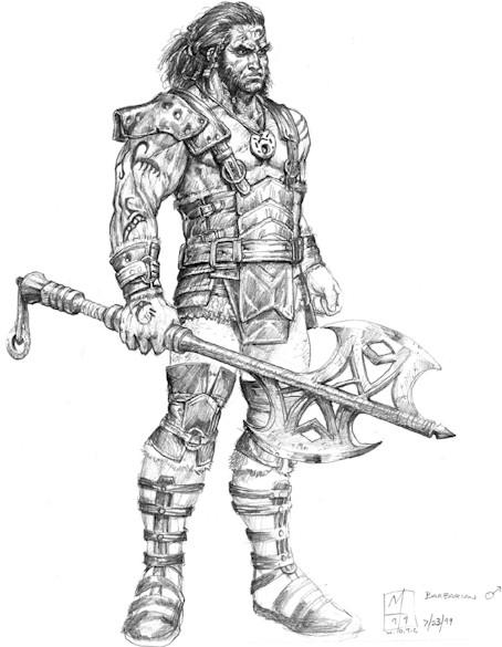 Un guerriero che agisce per un fine o